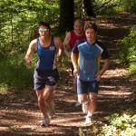 Spitzengruppe der Läufer